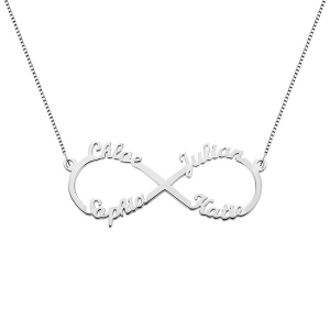 cec88ed7d34e3 Yin Yang Necklace Set with Name & Birthstone -