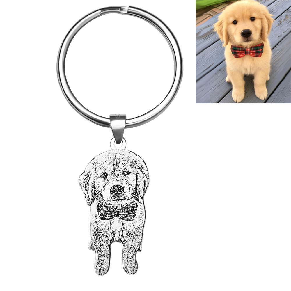 Personalized Pet Memorial Photo Necklace / Keychain